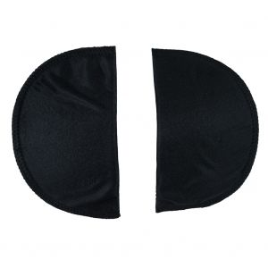 Foam Shoulder Pads Covered with Black Polyester - 7 x 4.5 x .5