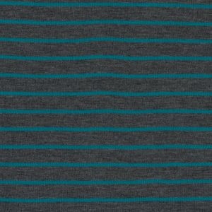 Charcoal and Jade Striped Hacci Baby Knit