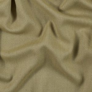 Golden Olive and White Herringbone Polyester Suiting