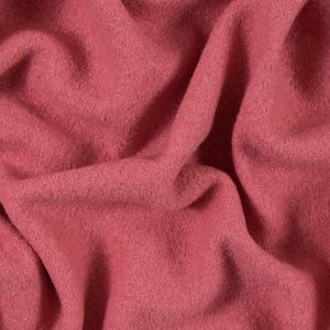 Strawberry Pink Solid Boiled Wool
