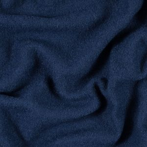 Twilight Blue Solid Boiled Wool