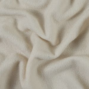Antique White Solid Boiled Wool