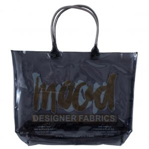 Charcoal and Gold Vinyl Beach Bag