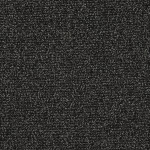 Slate Black and Gravel Boucled Stretch Wool Tweed