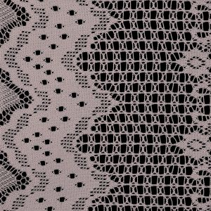 Famous NYC Designer Frappe Crochet Lace with Scallop Border Design