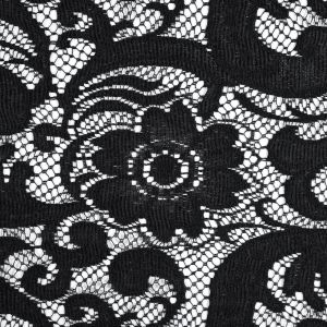 Famous NYC Designer Black Floral and Paisley Lace