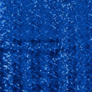 Jay Godfrey Royal Blue All-Over Circle Sequins Fabric on a Black Mesh