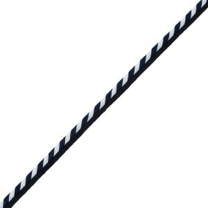 Striped Twisted Cord Trim with Lip - 0.25