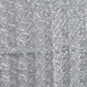 Jay Godfrey Silver All-Over Circle Sequins Fabric on a Black Mesh