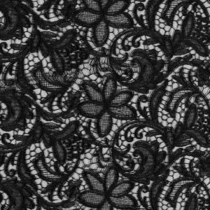Jay Godfrey Black Floral Corded Lace