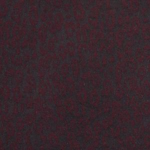 Burgundy and Black Leopard Patterned Stretch Twill