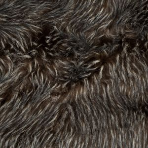 Cub Brown and Winter White Spotted Thick Faux Fur