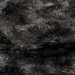 Dark Gull Gray Abstract Pressed Faux Fur