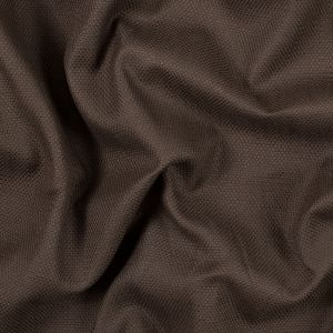 Chocolate Brown Basketwoven Cotton and Polyester Upholstery Fabric