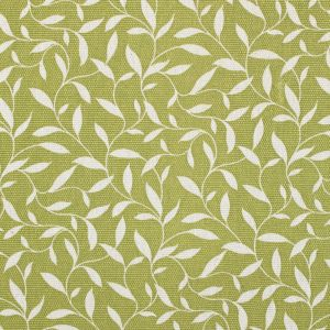 Dark Citron and White Floral Upholstery Cotton Blend