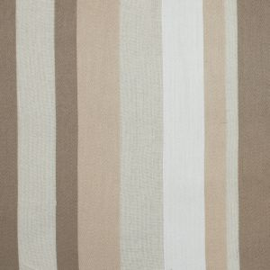 Parchment and Teak Barcode Striped Drapery Sheer