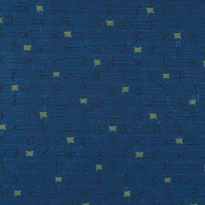 Delft Blue and Green Glow Textural Upholstery Jacquard