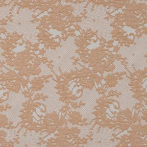 Metallic Butterscotch and White Lacey Floral Brocade