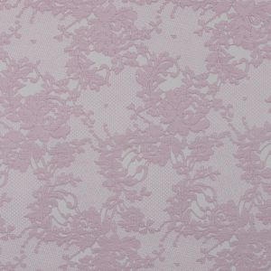 Metallic Orchid Pink and White Lacey Floral Brocade