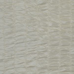 Winter White Ruched Polyester Taffeta