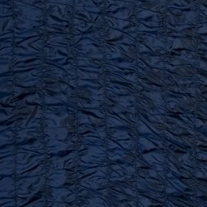 Twilight Blue and Black Iridescent Ruched Polyester Taffeta
