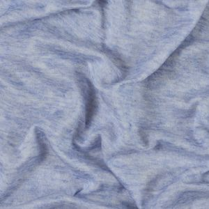 Italian Heathered Periwinkle Rayon Jersey Double Cloth