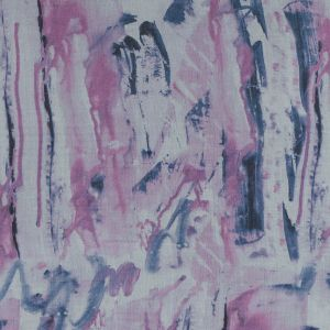 Orchid and Thistle Down Abstract Printed Silk Chiffon
