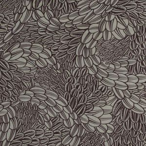 Brown Stone and Warm Taupe Floral Printed Silk Chiffon