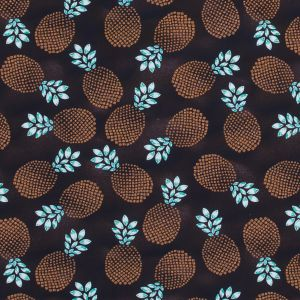 Brown Pineapple UV Protective Compression Tricot with Aloe Vera Microcapsules