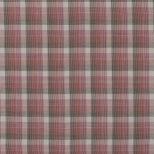 Red and Beige Plaid Cotton Batiste