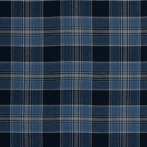 Blue and Gray Plaid Cotton Flannel