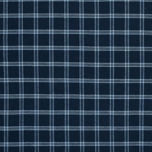 Blue and White Plaid Cotton Flannel