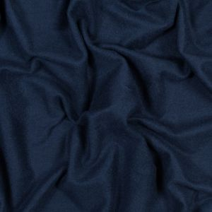 Navy Bamboo and Cotton Stretch Knit Fleece