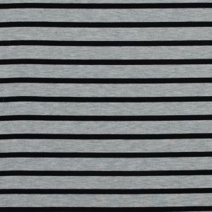 Light Gray and Black Striped Bamboo Jersey