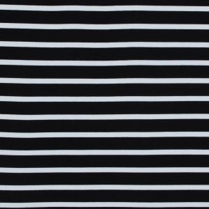 Black and White Striped Bamboo Jersey
