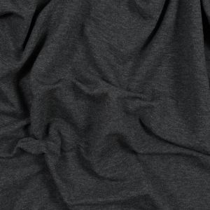 Charcoal Bamboo Stretch French Terry