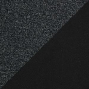 Dark Charcoal Performance Wool Knit with a Black Fleece Backing