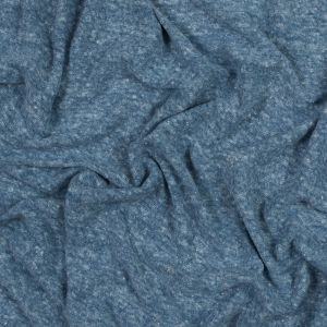 Sky Heather Linen and Polyester Knit
