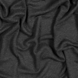 Black Linen and Polyester Knit