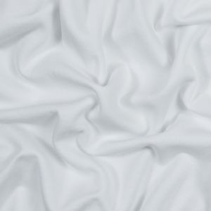 White Cotton and Polyester Brushed Fleece