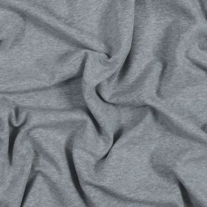 Light Gray Cotton and Polyester Brushed Fleece