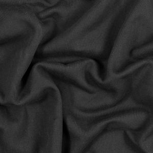 Black Cotton and Polyester Brushed Fleece