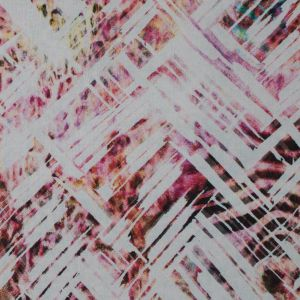 Italian Pink Abstract Animal Printed Cotton Voile