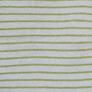 Italian Lime and White Pencil Striped Linen Knit