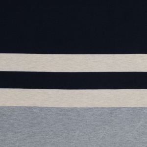 Navy, Oatmeal and Gray Awning Striped Jersey