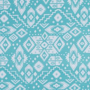 Seafoam and White Tribal Printed Jersey