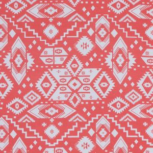 Coral and White Tribal Printed Jersey