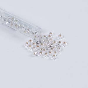 Clear Crystal Czech Seed Beads - Size 2