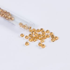 Clear Gold Czech Seed Beads - Size 2