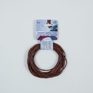 Dazzle-It Earth Red Genuine Leather Cord - 2mm